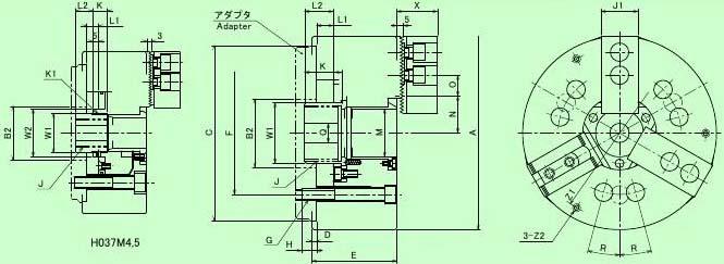 h037m大通孔液压卡盘